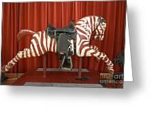 Original Zebra Carousel Ride Greeting Card
