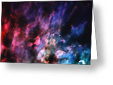 Orion Nebula Rainbow Smoke Greeting Card