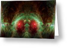 Orion's Reflection - Deep Space Nebula Greeting Card