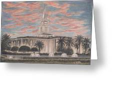 Orlando Florida Lds Temple Greeting Card