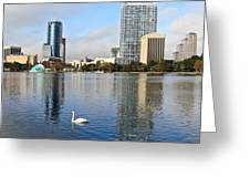 Orlando Skyline Reflections Greeting Card