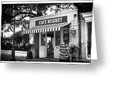 Orleans Cafe Beignet Greeting Card by John Rizzuto