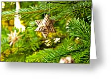 Ornament In A Christmas Tree Greeting Card