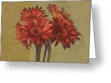 Ornamental Gerbers Greeting Card