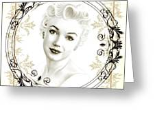 Ornamental Marilyn Greeting Card