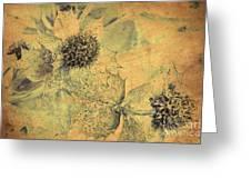 Ornamental Thistle Flower Greeting Card