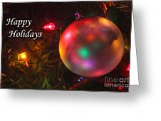 Ornaments-1942-happyholidays Greeting Card