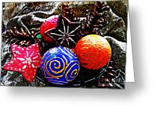 Ornaments 7 Greeting Card by Sarah Loft