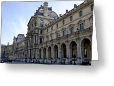 Ornate Architectural Artwork On The Buildings Of The Musee Du Louvre In Paris France Greeting Card