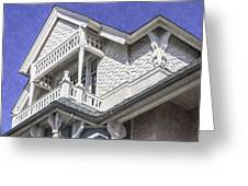 Ornate Balcony With View Greeting Card