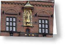 Ornate Building Artwork In Copenhagen Greeting Card