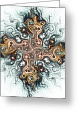 Ornate Cross Greeting Card by Anastasiya Malakhova