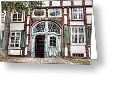 Ornate German Door Greeting Card