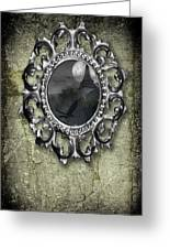 Ornate Metal Mirror Reflecting Church Greeting Card