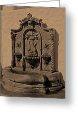 Ornate Wall Fountain Greeting Card