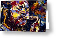 Ornette Coleman Jazz Faces Series Greeting Card