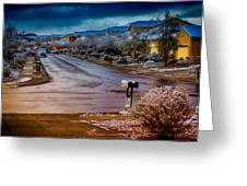 Oro Valley Winter No.54 Greeting Card
