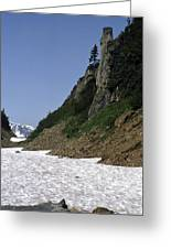 Orphaned Snow Field Greeting Card