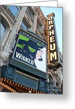 Orpheum Sign Greeting Card by Carol Groenen