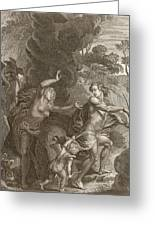 Orpheus, Leading Eurydice Out Of Hell Greeting Card