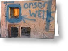 Orson Welles Depository Eleven Mile Corner Arizona 2004 Greeting Card