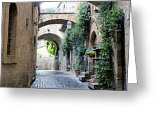 Orvieto Street With Arches Greeting Card