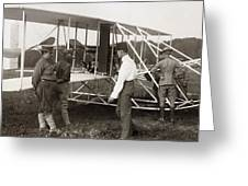 Orville Wright And Aeroplane  1908 Greeting Card