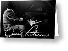 Oscar Peterson Greeting Card