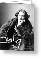 Oscar Wilde In His Favourite Coat 1882 Greeting Card