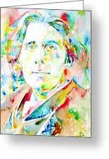 Oscar Wilde Watercolor Portrait.1 Greeting Card