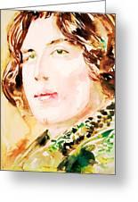 Oscar Wilde Watercolor Portrait.3 Greeting Card