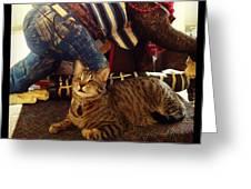 Oskar Lil Monkey Greeting Card