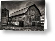 Oslo Corner In Black And White Greeting Card by Thomas Young