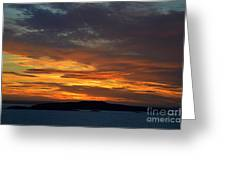 Oslo Fjord At Sunset Greeting Card