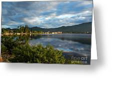 Osoyoos - Quiet Reflection Greeting Card by Margaret McDermott