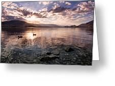 Osoyoos Lake Sunset Greeting Card