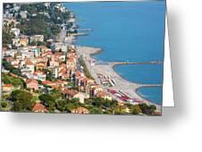 Ospedaletti, Liguria, Italy Greeting Card