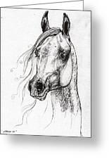 Ostragon Polish Arabian Horse 3 Greeting Card