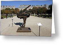 Ostrich Art At The Jardin Des Tuileries In Paris France Greeting Card