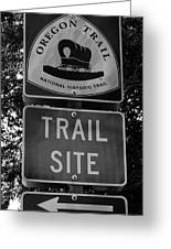 Oregon Trail Sign A Greeting Card
