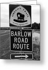 Barlow Road Cutoff Sign Greeting Card