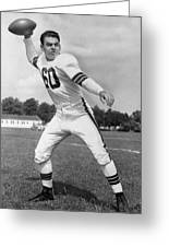 Otto Graham Nfl Legend Poster Greeting Card