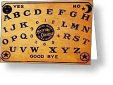 Ouija Board 3 Greeting Card