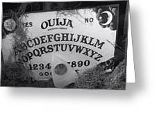 Ouija Board Queen Mary Ocean Liner Bw Greeting Card