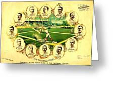 Our Baseball Heroes Greeting Card by Pg Reproductions