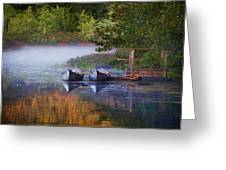 Our Canoes Await Greeting Card