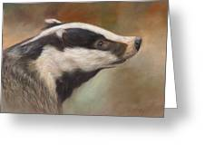 Our Friend The Badger Greeting Card