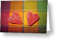 Our Hearts On The Table Greeting Card