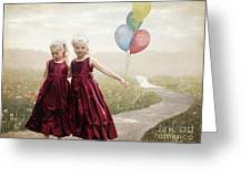 Our Hearts Say We're Friends Greeting Card