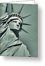 Our Lady Liberty - Verdigris Tone Greeting Card